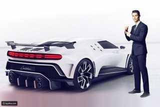 كريستيانو رونالدو يضم أحدث سيارات بوجاتي في عيد ميلاده